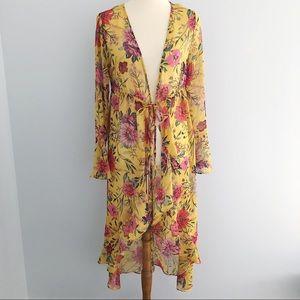 🌻No boundaries Floral Cover Up Long Kimono